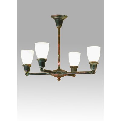 Revival Oyster Bay Goblet 4-Light Shaded Chandelier