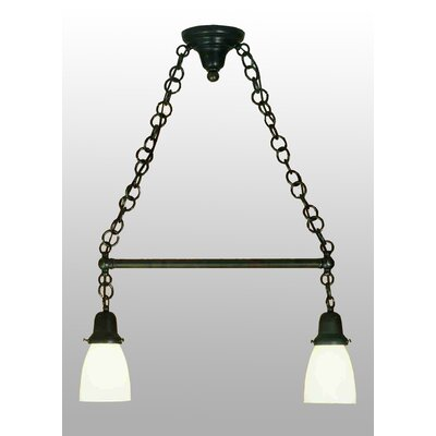 Revival Oyster Bay Goblet 2-Light Kitchen Island Pendant