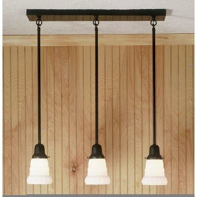 Revival Oyster Bay Embossed 3-Light Kitchen Island Pendant