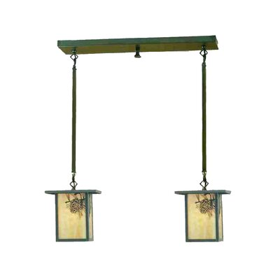 Hyde Park Winter Pine 2-Light Kitchen Island Pendant