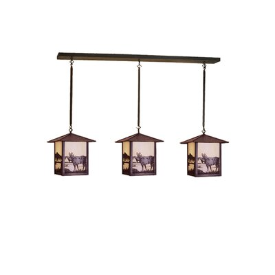 Seneca Moose at Lake 3-Light Kitchen Island Pendant