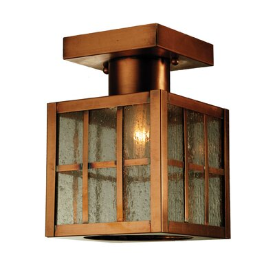 Hudson Welcome Lantern 1-Light Semi-Flush Mount