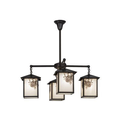 Seneca Winter Pine 4-Light Shaded Chandelier