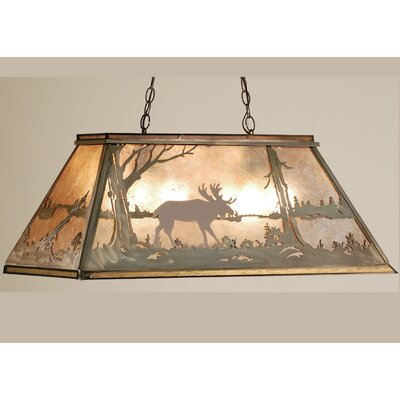 Moose at Lake 6-Light Pool Table Light