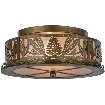 Mountain Pine 2-Light Flush Mount