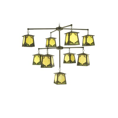 Kirkpatrick 9-Light Shaded Chandelier