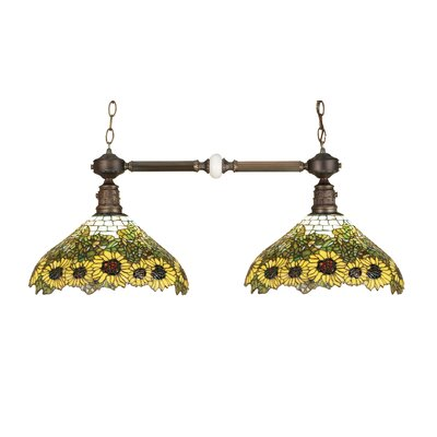 Wild Sunflower 2-Light Kitchen Island Pendant