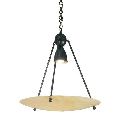 Revival Iridescent Deco Ball 1-Light Inverted Pendant Finish: Black