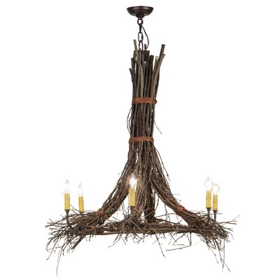 Twigs 6-Light Candle-Style Chandelier