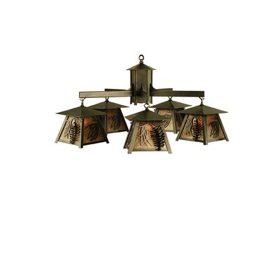 Scotch Pine 5-Light Shaded Chandelier