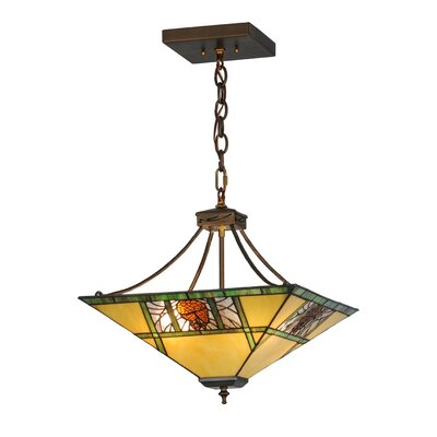 Pinecone Ridge 4-Light Inverted Pendant Size: 20-49 H x 17 W x 17 D