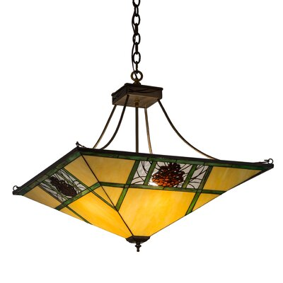 Pinecone Ridge 4-Light Inverted Pendant Size: 28-57 H x 26.5 W x 26.5 D