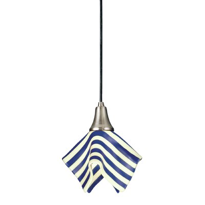 Metro Fusion Slick Handkerchief 1-Light Mini Pendant