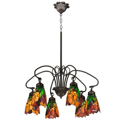 Iris 6-Light Shaded Chandelier