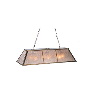 Tri-Panel 9-Light Billiard Pendant Size: 45 H x 48 W x 17 D