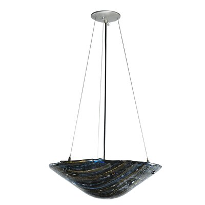 Metro Fusion Cielo Di Notte Glass 2-Light Inverted Pendant
