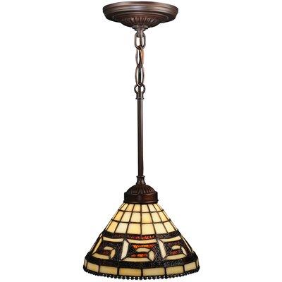 Greek Key 1-Light Mini Pendant
