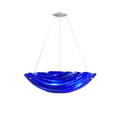 Metro Fusion Azul Handkerchief 4-Light Inverted Pendant