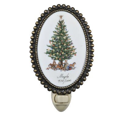 Christmas Christmas Tree Fused Oval Night Light