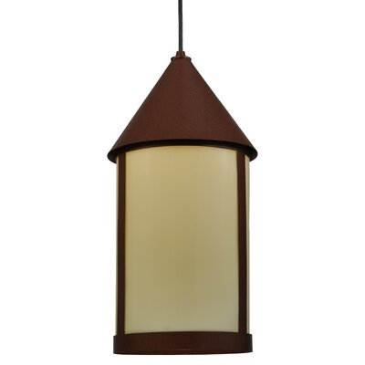 Greenbriar 1-Light Mini Pendant Shade Color: Ivory