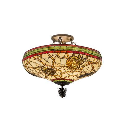 Pinecone 4-Light Semi Flush Mount