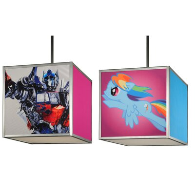 Greenbriar Oak 2 Piece Hasbro Transformer and My Little Pony 2-Light Mini Pendant Set