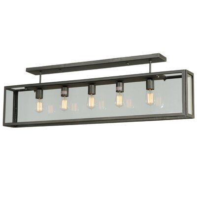 Greenbriar Oak 5-Light Semi-Flush Mount