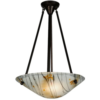 Greenbriar Oak 2-Light Inverted Pendant