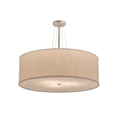 Greenbriar Oak Cilindro Textrene 3-Light Drum Pendant