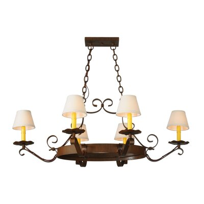 Greenbriar Oak 6-Light Shaded Chandelier