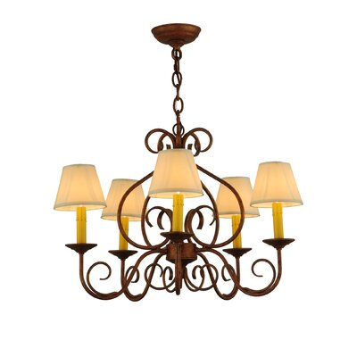 Jenna 5-Light Shaded Chandelier