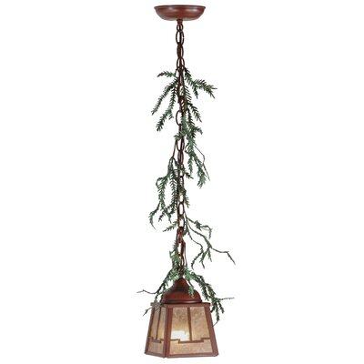 Greenbriar Oak Pine Branch Valley View 1-Light Mini Pendant