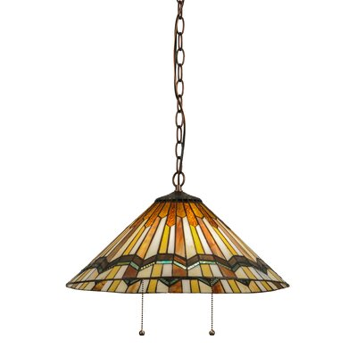 Prairie Delta 2-Light Inverted Pendant