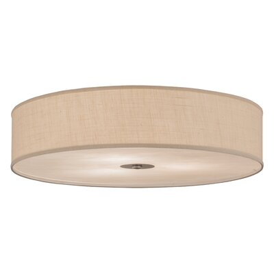 Greenbriar Oak 3-Light Flush Mount Size: 9 H x 36 W x 36 D