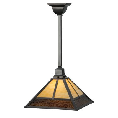 Greenbriar Oak T Mission 1-Light Mini Pendant