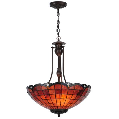 Greenbriar Oak Elan 3-Light Inverted Pendant