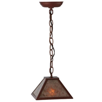 Greenbriar Oak Mission Prime 1-Light Mini Pendant