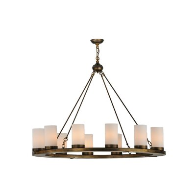 Greenbriar Oak 12-Light Shaded Chandelier