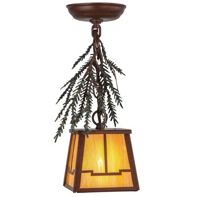 Pine Branch Valley View 1-Light Mini Pendant Size: 16 - 37 H x 7.75 W x 7.75 D