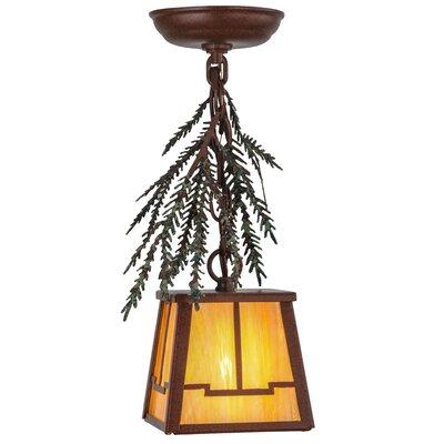 Pine Branch Valley View 1-Light Mini Pendant Size: 16 - 37 H x 7.75 W x 7.75 D