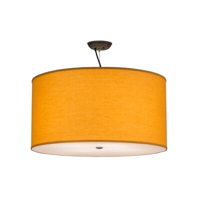Greenbriar Oak Cilindro Play Textrene 4-Light Drum Pendant