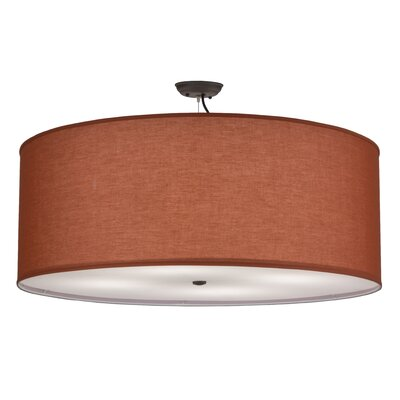 Greenbriar Oak 4-Light Drum Pendant