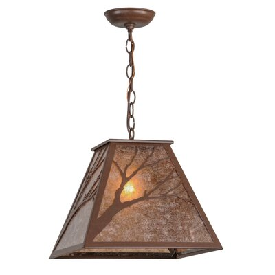 Greenbriar Oak 1-Light Geometric Pendant
