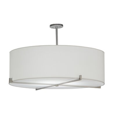 Greenbriar Oak 4-Light Drum Pendant Size: 22.5 H x 36 W x 36 D