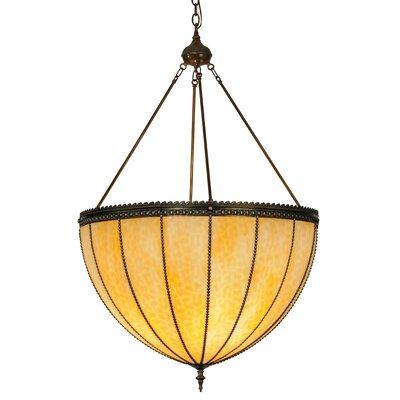 Greenbriar Oak 4-Light Inverted Pendant
