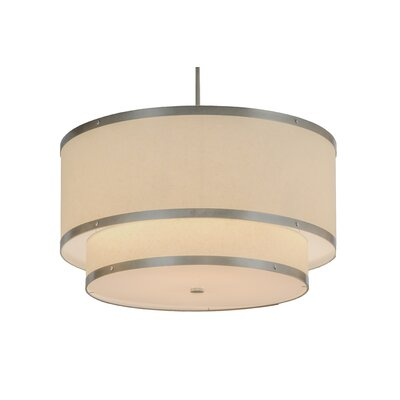 Greenbriar Oak 6-Light Drum Pendant Size: 49 H x 30 W x 30 D