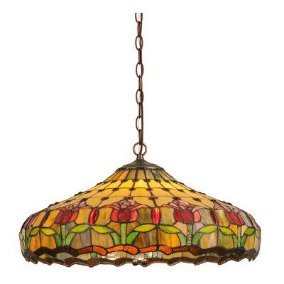 Greenbriar Oak 3-Light Bowl Pendant