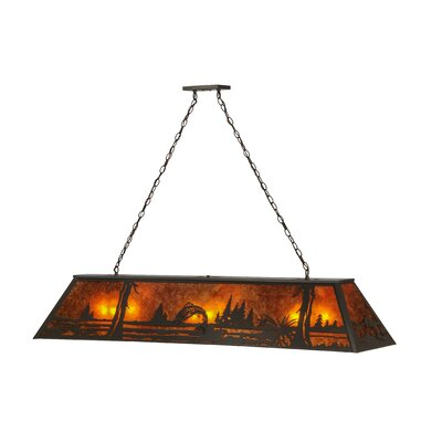 Greenbriar Oak 9-Light Pool Table Light