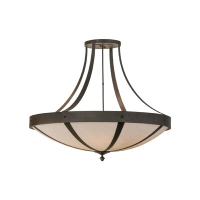 Greenbriar Oak 6-Light Semi-Flush Mount