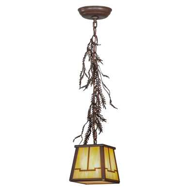 Pine Branch Valley View 1-Light Mini Pendant Size: 16 - 69 H x 8 W x 8 D